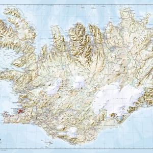 Veggkort – Ísland 1:500 000